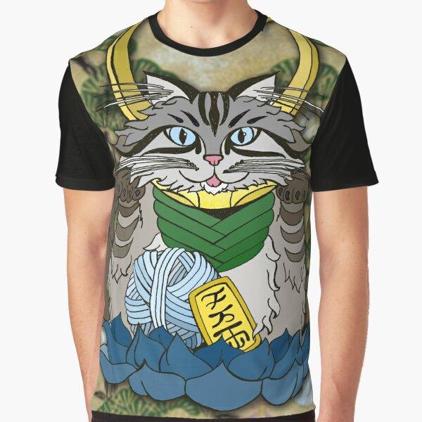 Loki Cat Graphic T-Shirt