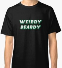 Weirdy Beardy - Green and White Classic T-Shirt