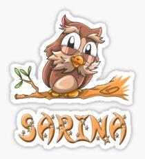 Sarina Owl Sticker