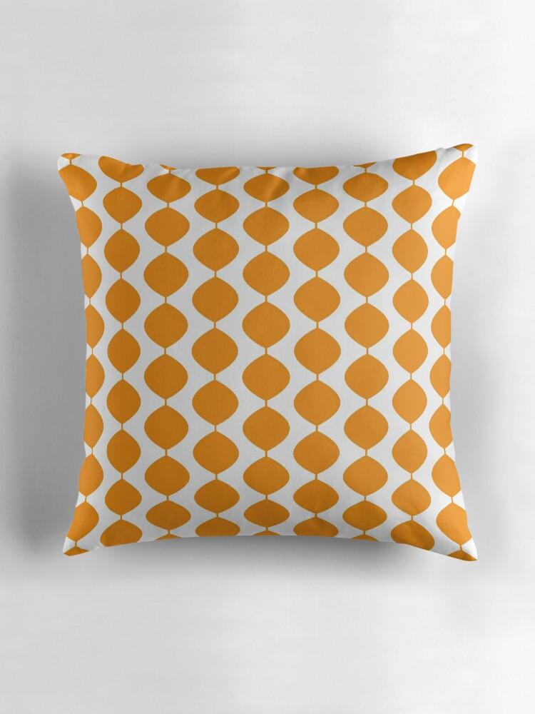 Orange Mid Century Pillows :