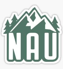 NAU Mountains- green Sticker