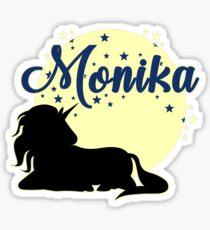 Monika unicorn name first name Sticker
