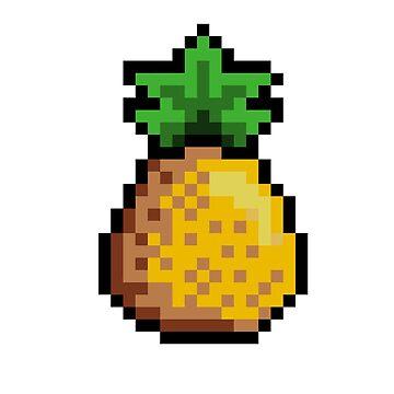 8 bit Summer Pineapple  by KrAyZiEBOOY