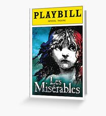 Les Mis Playbill Greeting Card