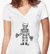 BLAZEBOT Women's Fitted V-Neck T-Shirt