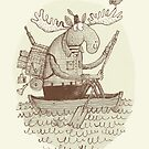 'Moose Canoe' (Sepia) by Alex G Griffiths