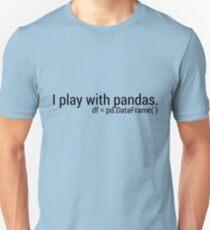 Ich spiele mit Pandas. Unisex T-Shirt