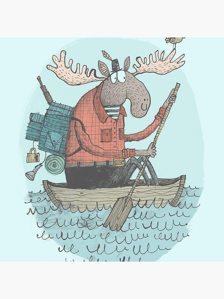 'Canoa de los alces' (Color) de alexggriffiths
