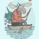 'Moose Canoe' (Color) by Alex G Griffiths