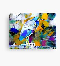 Great Blue Heron Abstract Canvas Print