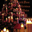 Candles Glow with Warm Christmas Wishes by TLCGraphics