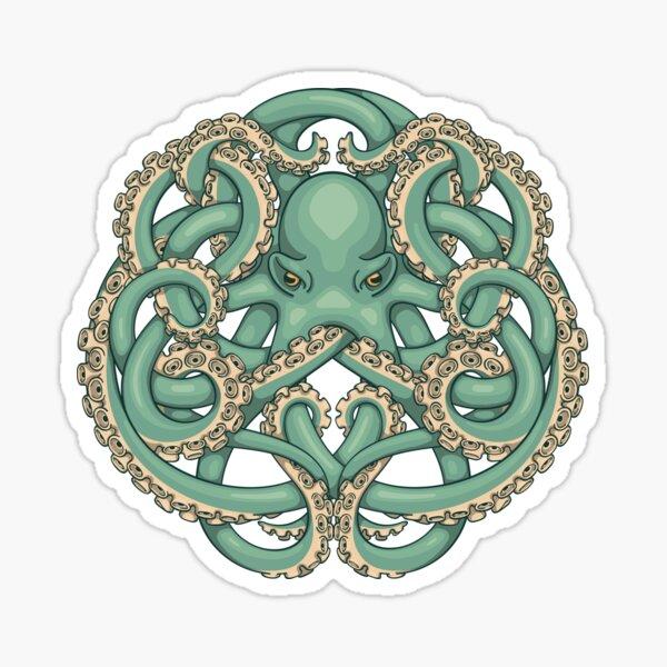 Octopus Emblem Green Sticker