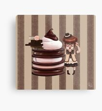 Chocolate Nerd Metal Print