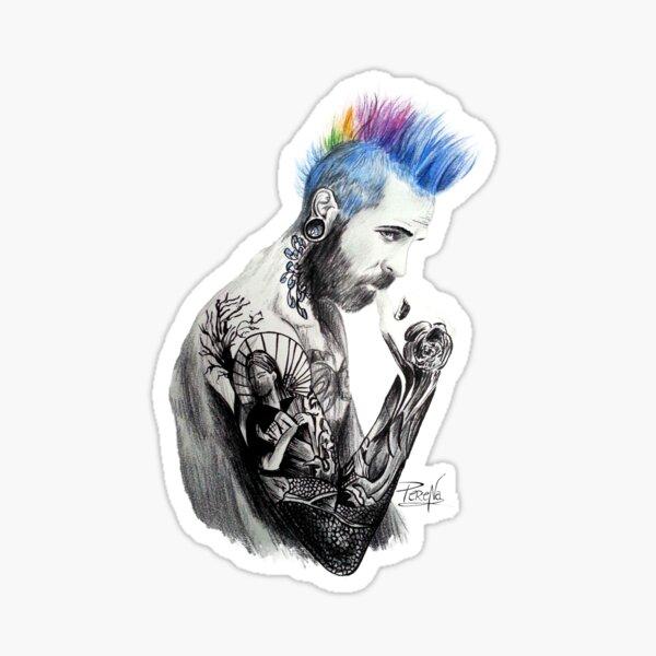 Homme tatoué Sticker