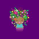 Cute Purple Flower GIrl by Claudia Ramos