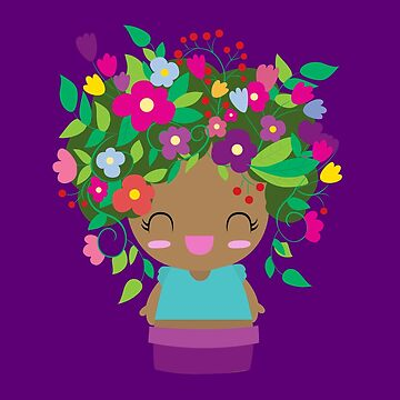 Cute Purple Flower GIrl by claudiaramos