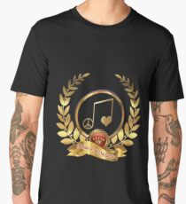 t-shirts with music logo love and peace Men's Premium T-Shirt
