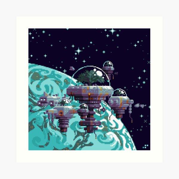 Biotopis: Orbital Colony Art Print