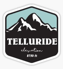telluride elevation ski skiing hiking climbing biking snow snowboarding Sticker