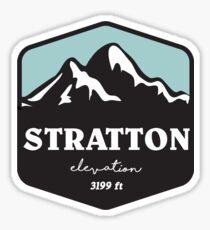 stratton elevation ski skiing climbing hiking biking snow snowboarding Sticker