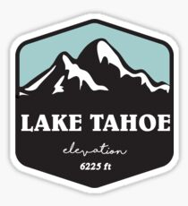 lake tahoe elevation ski skiing hiking climbing biking snow snowboarding Sticker