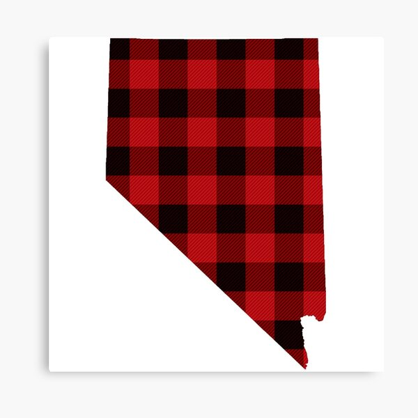 Red Plaid Nevada Canvas Print