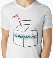 He Need Some Milk Men's V-Neck T-Shirt