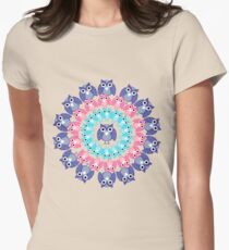circle of owls T-shirt  Womens Fitted T-Shirt