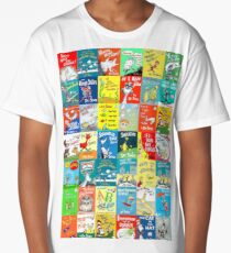 Dr. Seuss Book Covers Long T-Shirt