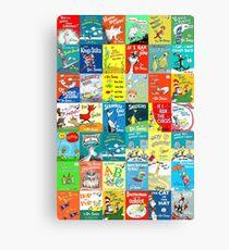 Dr. Seuss Book Covers Canvas Print
