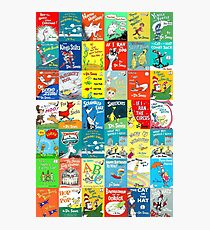 Dr. Seuss Book Covers Photographic Print