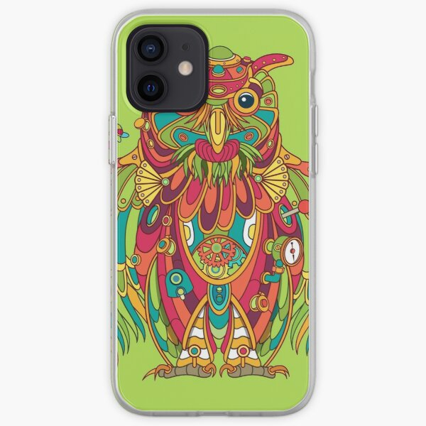 Owl, cool art from the AlphaPod Collection iPhone Soft Case