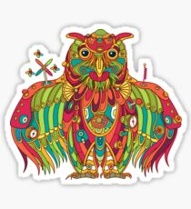 Owl, cool art from the AlphaPod Collection Sticker