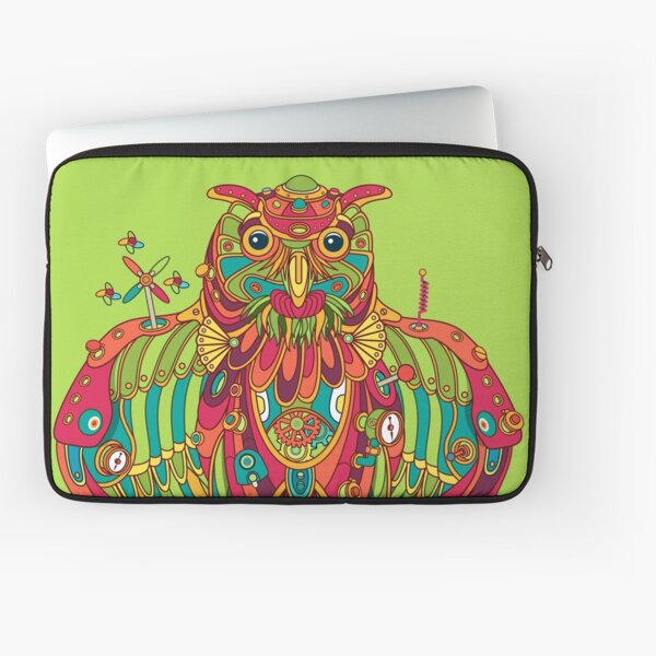 Owl, cool art from the AlphaPod Collection Laptop Sleeve