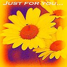 Daisies just for you card by Jennifer Craker
