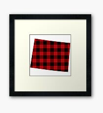 Red Plaid Wyoming Framed Print