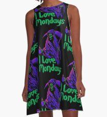 I Love Mondays A-Line Dress