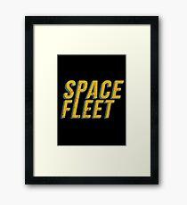 Space Fleet - Retro Black Mirror (USS Callister) Framed Print