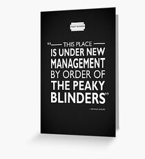 Under New Management Greeting Card