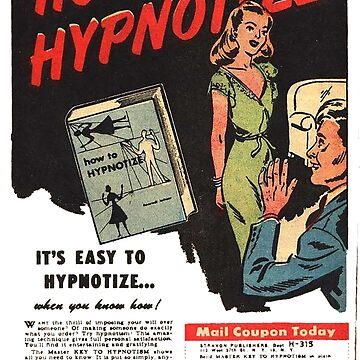 How To Hypnotize Retro Vintage Ad  by Charlottesw3b