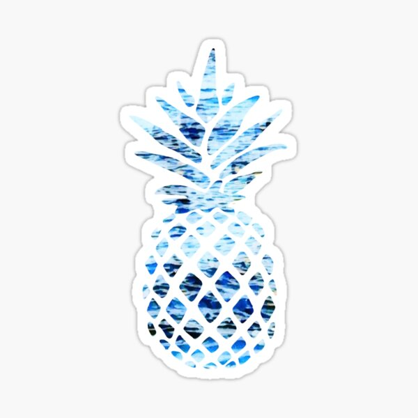 Blue Ocean Design Pineapple Sticker