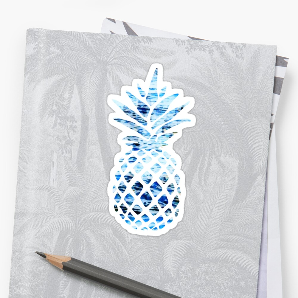 Sticker «Blue Ocean Design Ananas»