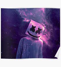 Marshmello Galaxie Lila Poster