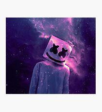 Marshmello Galaxie Lila Fotodruck