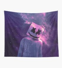 Marshmello Galaxy Purple Wall Tapestry