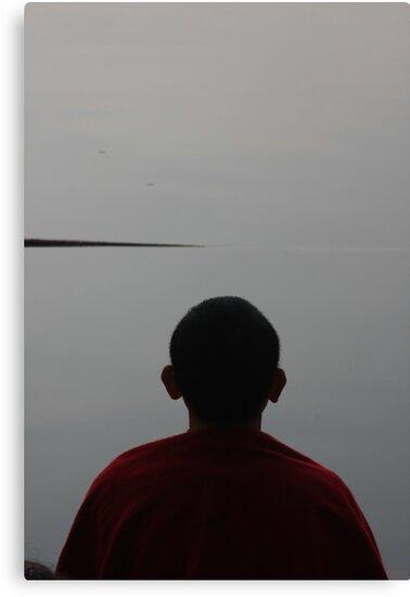 meditation. morning, tso pema, india by tim buckley | bodhiimages