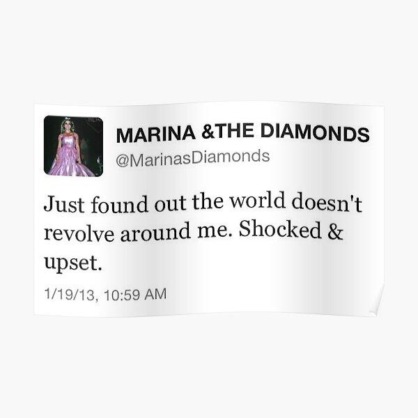 marina and the diamonds tweet  Poster