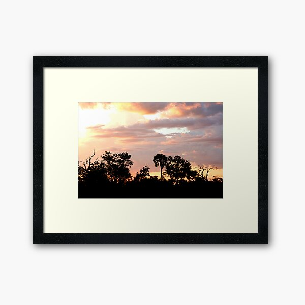 Pink Skies Framed Art Print