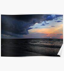 Cloudy Beach Poster