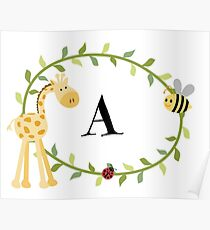 Nursery Letters A Poster